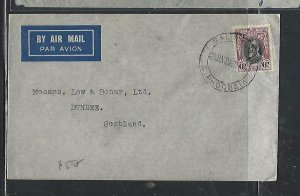 SOUTHERN RHODESIA COVER (PP1211B) 1935 KGV 6D ON COVER TO SCOTLAND