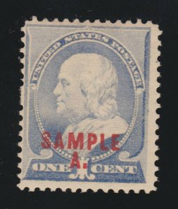 US 212SL 1c Franklin Specimen Sample A F-VF OG H SCV $75