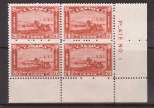 Canada #175 NH Mint Plate #1 LR Block