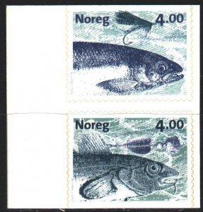 Norway. 1999. 1301-2. Fish, fauna. MNH.