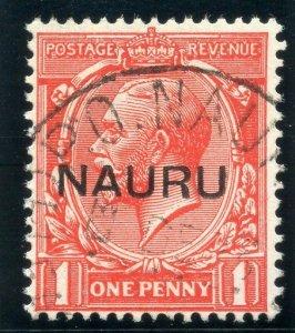 Nauru 1916 KGV 1d scarlet very fine used. SG 14. Sc 2a.