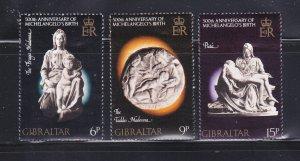 Gibraltar 326-328 Set MNH Christmas (B)
