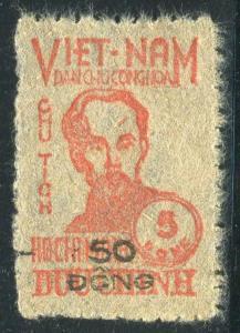 HERRICKSTAMP VIET NAM Sc.# 50 Rare Overprint