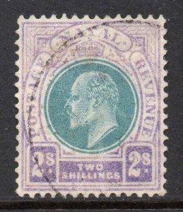 Natal 1904 EDVII 2/- wmk MCCA SG 156 used CV £50