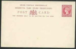 BERMUDA  QV 1½d postcard fine unused.......................................58498