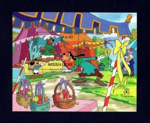 SIERRA LEONE - 1986 - DISNEY - SIMPLE SIMON - GOOFY & MICKEY - MINT MNH S/SHEET!