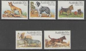 AUSTRALIA SG729/33 1980 DOGS MNH