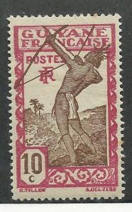 French Guiana #114 Carib Archer  (MLH)   CV $0.30
