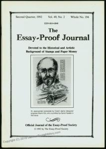 Essay-Proof Journal No194 Czechoslovakia Delandre 44696