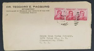 1956 Cagayan Philippine Islands Minneapolis MN USA Opticians Advertising Cover