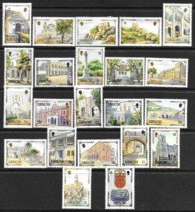 1993   GIBRALTAR  -  SG. 695 / 708  -  ARCHITECTURAL HERITAGE  -  MNH