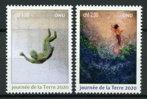 United Nations UN Geneva Art Stamps 2020 MNH Earth Day Cultures 2v Set