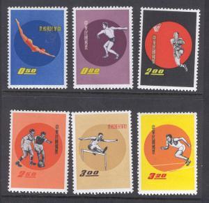 CHINA 1284-1289 HINGED SPORTS 1960