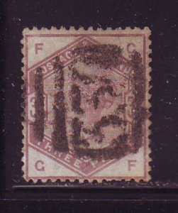 Great Britain Sc 102 1884 3d lilac Victoria stamp used