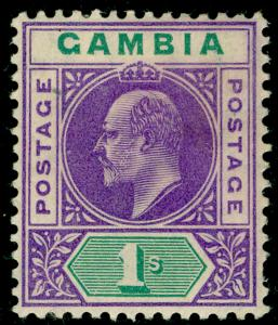 GAMBIA SG67, 1s violet & green, LH MINT. Cat £42.
