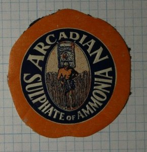 Arcadian Sulphate of Ammonia Company Brand Poster Stamp Ad