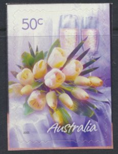 Australia  SC# 2361  MNH S/A on backing White Roses - see detail & scan