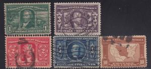 323-327 set F-VF used neat cancel and nice color ! cv $ 92 ! see pic !