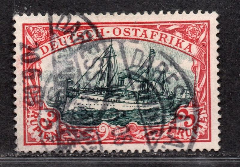 **German East Africa, SC# 21a Used XF Single Stamp, Signed, CV $180.00