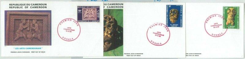 77350 - CAMEROUN - POSTAL HISTORY -  3 FDC COVER 1985 - art ARCHEOLOGY