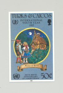Turks & Caicos #673 Youth Year, UN, Grimm, Fairy Tales 1v Imperf Proof