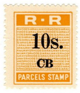 (I.B) Rhodesia Railways : Parcels Stamp 10/- (Chisambe)