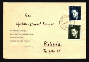Germany DDR 1957 Cover / Arnstadt CDS - Z17228