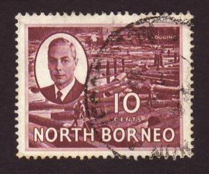 North Borneo 1950 #250 10c Purple Logging  SG362