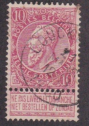 Belgium # 66, King Leopold, Used.