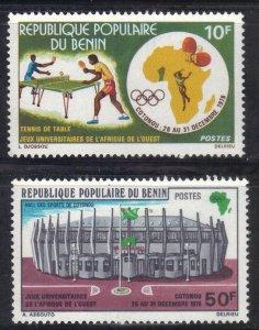 BENIN SC# 368-69 **MH** 10fr+50fr 1976 SEE SCAN