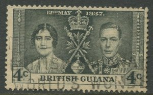 STAMP STATION PERTH British Guiana #228 Coronation Issue Used CV$0.750