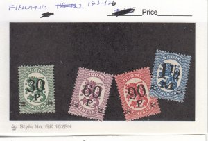 J26039  jlstamps 1921 finland set mh #123-6 ovpt,s, all checked