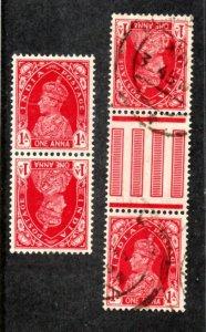 India - SG# 250 Tete-Beche & Gutter pairs  -    Lot 0920099