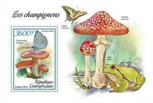 HERRICKSTAMP NEW ISSUES CENTRAL AFRICA Mushrooms S/S