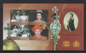 Papua New Guinea MNH S/S Queen Elizabeth II Golden Jubilee 2002