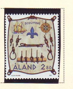 Aland Sc 148 1998 Scouting stamp mint NH