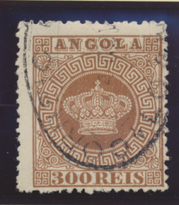 Angola Stamp Scott #9, Used - Free U.S. Shipping, Free Worldwide Shipping Ove...
