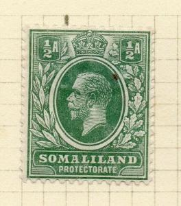 Somaliland Protectorate 1912 Early Issue Fine Mint Hinged 1/2a. 297808