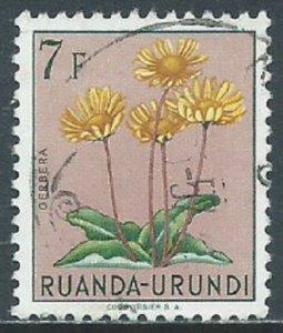 Ruanda Urundi, Sc #129, 7fr Used