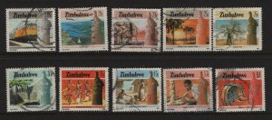 Zimbabwe 503-512 Used,1985 Agriculture and Industry