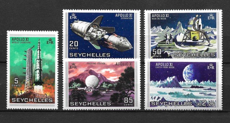 Seychelles MNH 252-6 Apollo Space