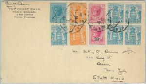 77556 - MONACO - Postal History -  1.58 franks franking on COVER to USA 1932