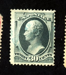 U.S. # 165 USED F-VF BLUE CANCEL Cat $135