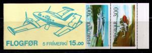 FAROE ISLANDS Sc#138a  MNH FVF BKLT CPL Passenger Aviation