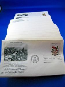 U.S. STATE BIRDS & FLOWERS - SCOTT #1953-2002 - SET OF 50 FDCs