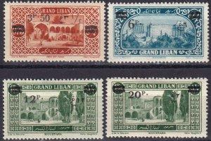 Lebanon #63, 65-7  Unused CV $11.65  (Z3798)
