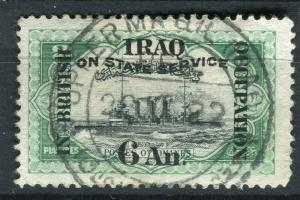 IRAQ; 1920 BRITISH OCC. SERVICE Optd. issue used 6a. value + good POSTMARK