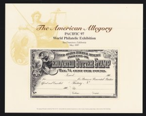 US 1997 PACIFIC 97 World Philatelic Exhibition Souvenir Card #B217 Butter Stamp