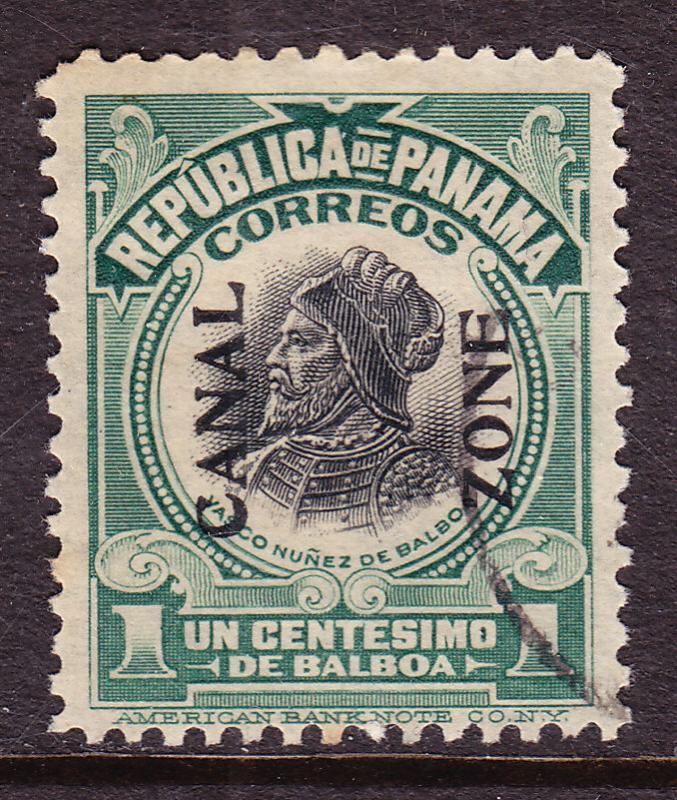 Canal Zone Nr.52 1918 Used(o) Balboa black overprint reading Up