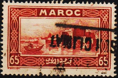 Morocco(French). 1933 65c S.G.181 Fine Used